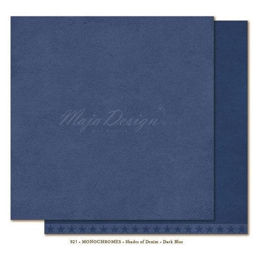 Χαρτί Scrapbooking Maja Collection, Monochrome - Shades of Denim / Dark Blue, διπλής όψης