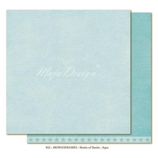 Χαρτί Scrapbooking Maja Collection, Monochrome - Shades of Denim / Aqua, διπλής όψης