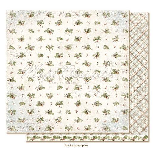 Χαρτί Scrapbooking Maja Collection διπλής όψης, Joyous Winterdays - Beautiful pine