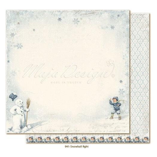 Χαρτί Scrapbooking Maja Collection διπλής όψης, Joyous Winterdays - Snowball fight