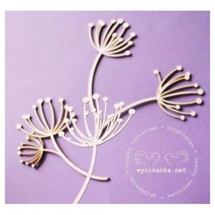 Chipboard Άνθη, 8,5 cm, 4τεμ.