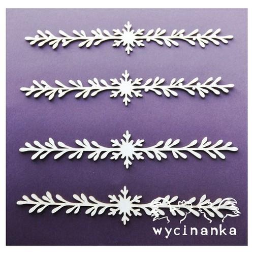 Διακοσμητικό Chipboard, All about Christmas Garland, 4 τεμ.