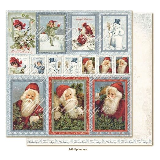 Χαρτί Scrapbooking Maja Collection διπλής όψης, Joyous Winterdays - Ephemera