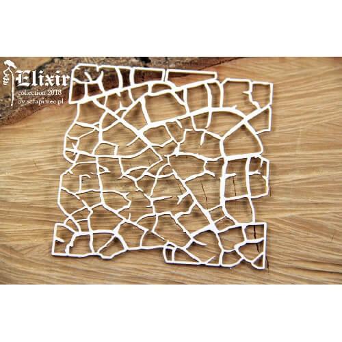 Διακοσμητικό Chipboard, Elixir-Little background 9,5x9,5 cm