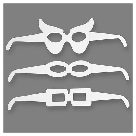 Μάσκες - γυαλιά, 3 σχέδια, 16 τεμ.