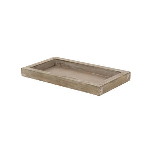 Ξύλινος δίσκος natural wash, 28x15x2.5cm