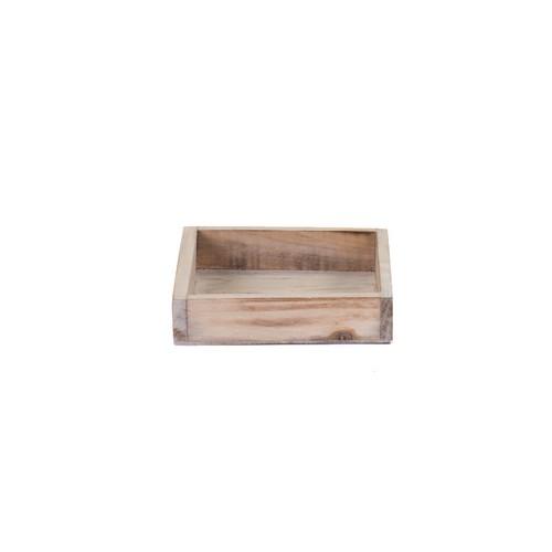 Ξύλινος δίσκος natural wash, 14x14x3cm
