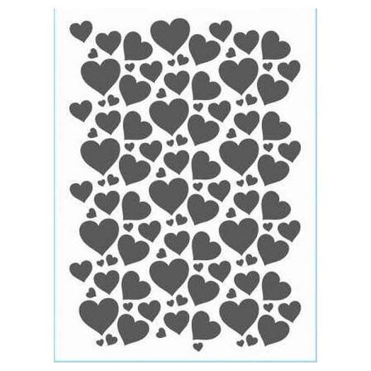Stencil 21x29cm, Hearts