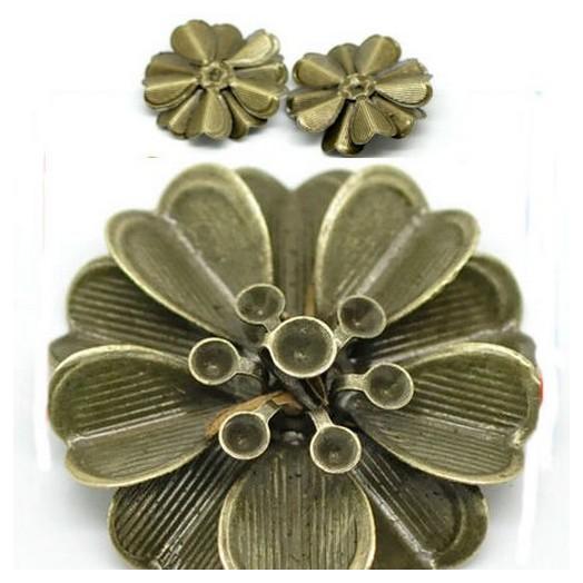 Antique Bronze Metal Decor 40mm - σετ 4 τεμ.