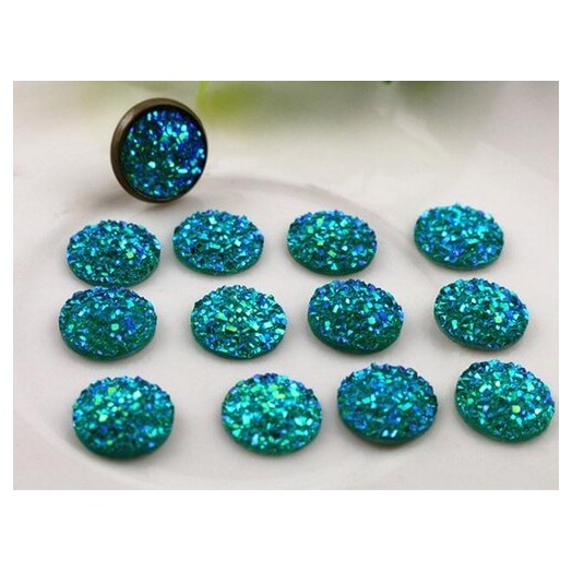 Resin Cameo Blue 12mm - 12 τεμ