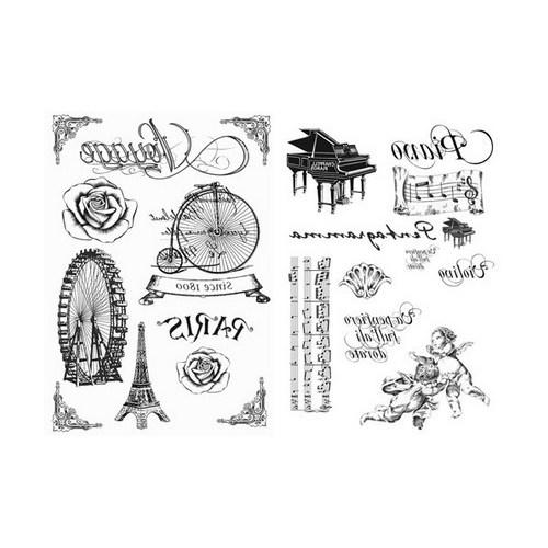 Transfer Paper Stamperia A4 Transfer - Paris & Piano, 2 τεμ
