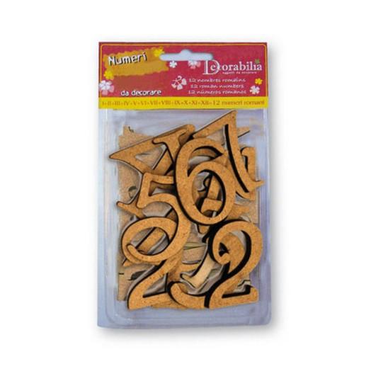 Αριθμοί MDF 4,5cm, σετ 14τεμ.,Stamperia