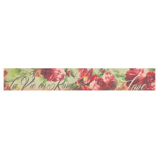 Deco tape ,3x5m Red roses  ,Stamperia