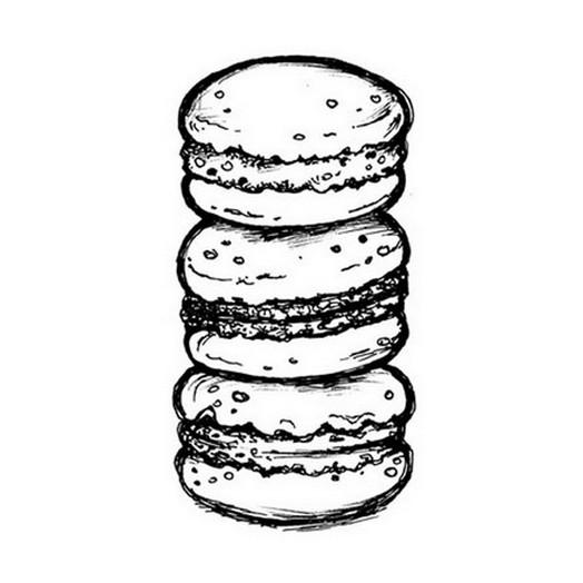 Σφραγίδα 5x7cm Macarones, Stamperia