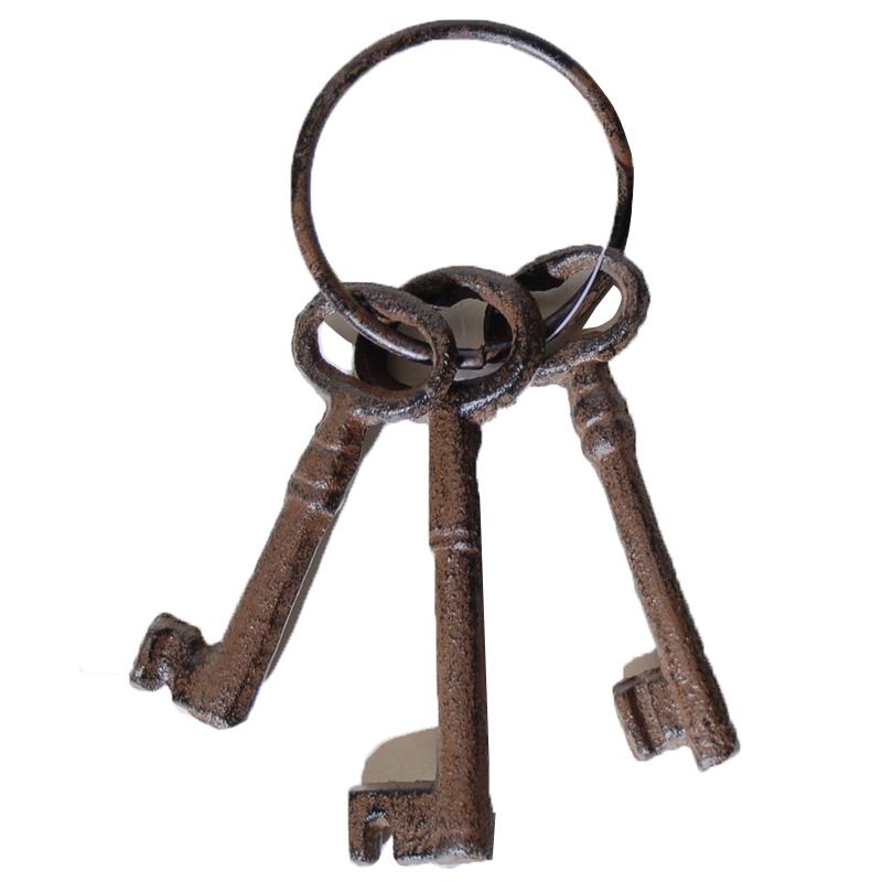 Κλειδιά σιδερένια Vintage Set σε κρίκο 3τεμ, 9-11cm