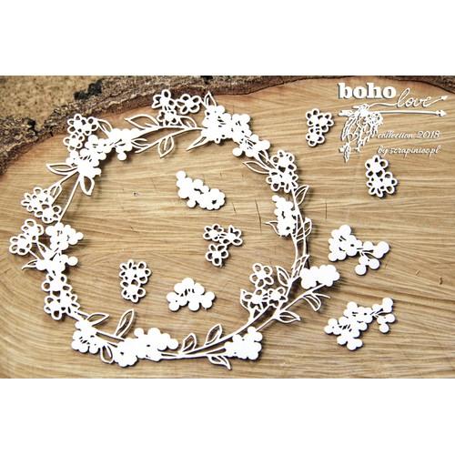 Διακοσμητικά Chipboard Boho Love - Βig wreath, 3 τεμ.