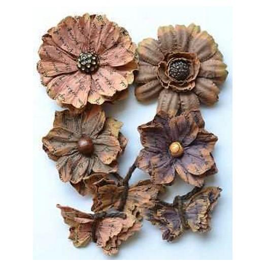 Λουλούδια Asteria Vintage Handmade 7τεμ.