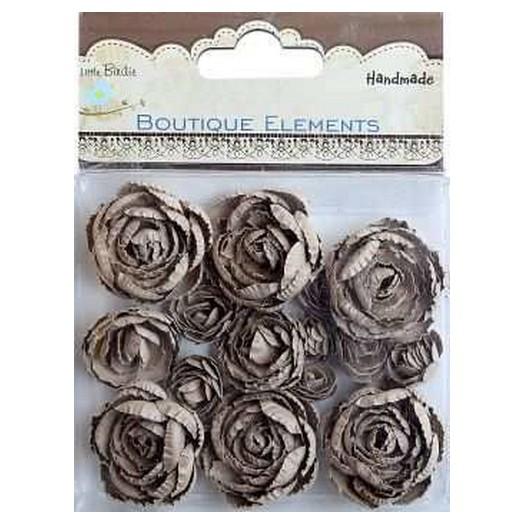 Λουλούδια Kraft Printed Roses Handmade 16τεμ.