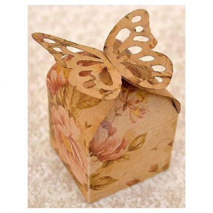 Κουτάκια Vintage Floral Gift Butterfly, σετ 6 τεμ.