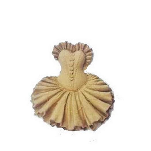 Ξυλόγλυπτo φορεματάκι 9.5 cm