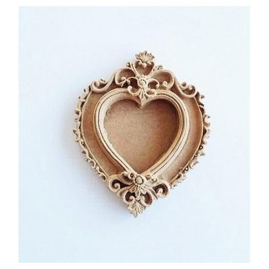 Ξυλόγλυπτο μίνι καρδιά 7x5,5cm