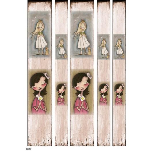 Ριζόχαρτο για λαμπάδες 29,7x42cm, Α3, Girls in Pink