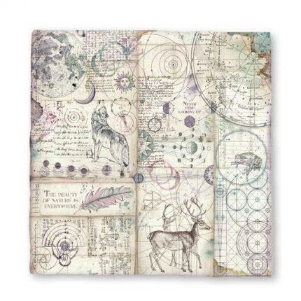 Χαρτί scrapbooking Magna Carta 30x30 cm,  Cosmos Astral, Stamperia