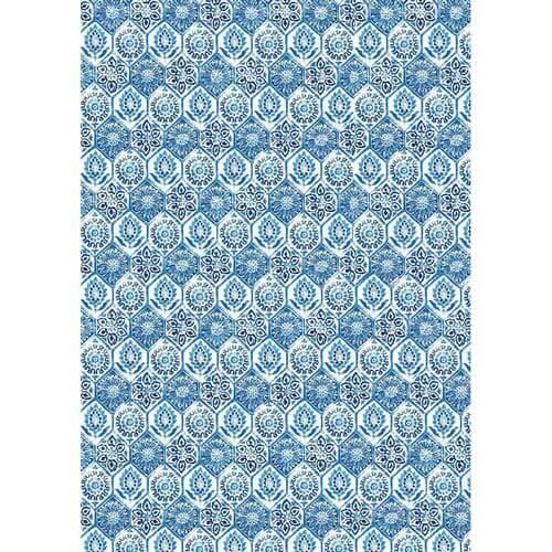 Ριζόχαρτο Stamperia 29,7x42cm A3,  Blue tile