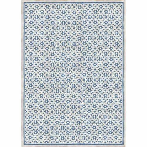 Ριζόχαρτο Stamperia 29,7x42cm A3,  Texture with blue flowers