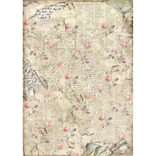Ριζόχαρτο Stamperia 29,7x42cm A3, Sound of roses