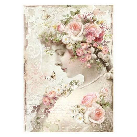 Ριζόχαρτο Stamperia 21x29cm, Floreal profile roses