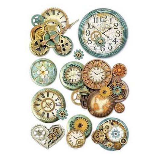 Ριζόχαρτο Stamperia 21x29cm Gearwheels and clock
