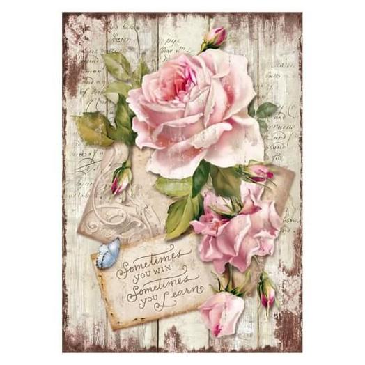 Ριζόχαρτο Stamperia 21x29cm, Sweet Time, Rose