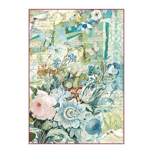 Ριζόχαρτο Stamperia 21x29cm, Bouquet