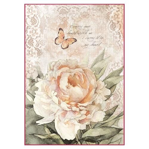 Ριζόχαρτο Stamperia 21x29cm, Rosa vintage & lace