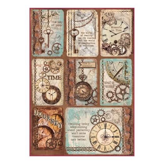 Ριζόχαρτο Stamperia 21x29cm, Clockwise cards