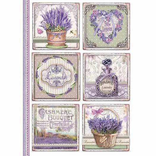 Ριζόχαρτο Stamperia 21x29cm A4, Provence cards