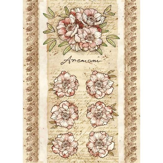 Ριζόχαρτο Stamperia 21x29cm A4,  Roses & Flowers by Donatella, Anemone