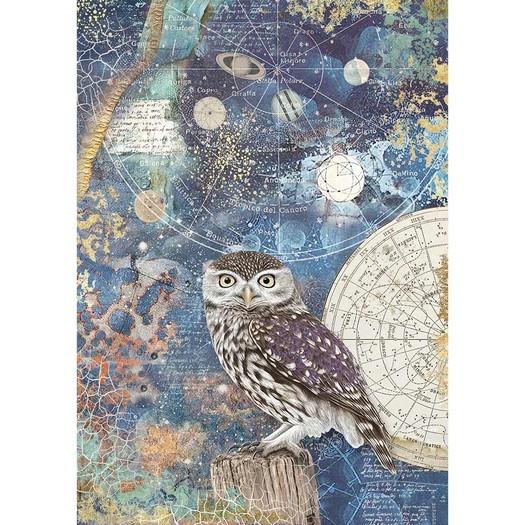 Ριζόχαρτο Stamperia 21x29cm A4, Cosmos owl