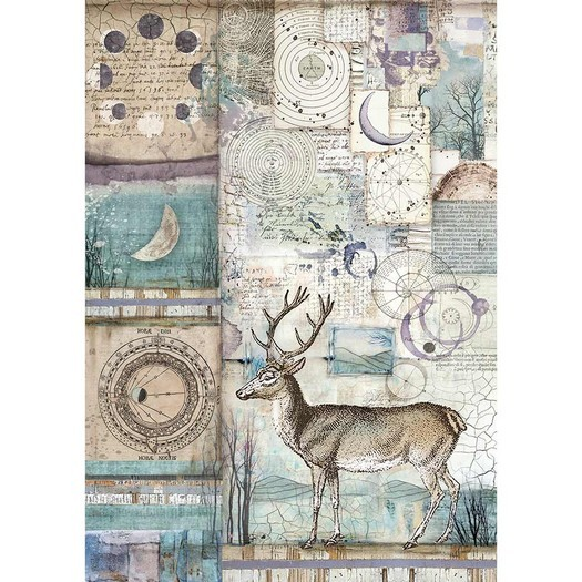 Ριζόχαρτο Stamperia 21x29cm A4, Cosmos deer