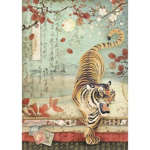 Ριζόχαρτο Stamperia 21x29cm A4, Tiger