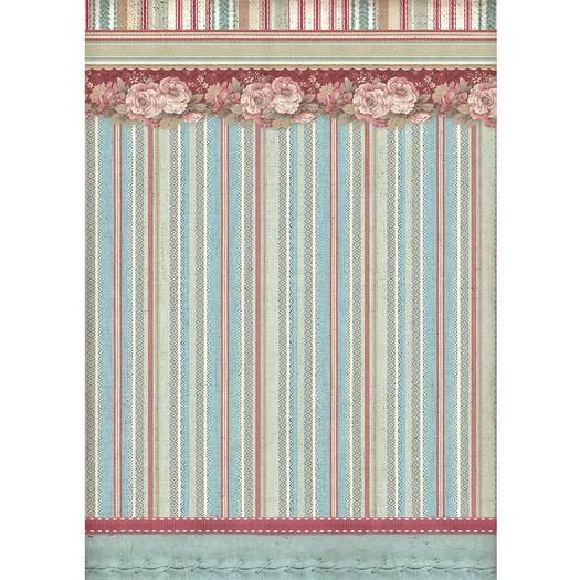 Ριζόχαρτο Stamperia 21x29cm A4, Striped wallpaper