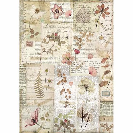 Ριζόχαρτο Stamperia 21x29cm A4, Pressed Flowers