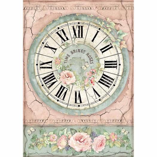 Ριζόχαρτο Stamperia 21x29cm A4, Clock