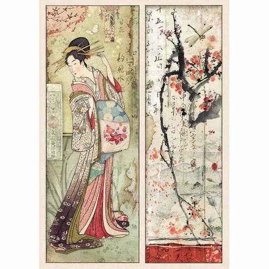 Ριζόχαρτο Stamperia 21x29cm A4, Geisha