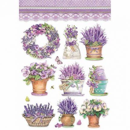 Ριζόχαρτο Stamperia 21x29cm A4, Levanda vase