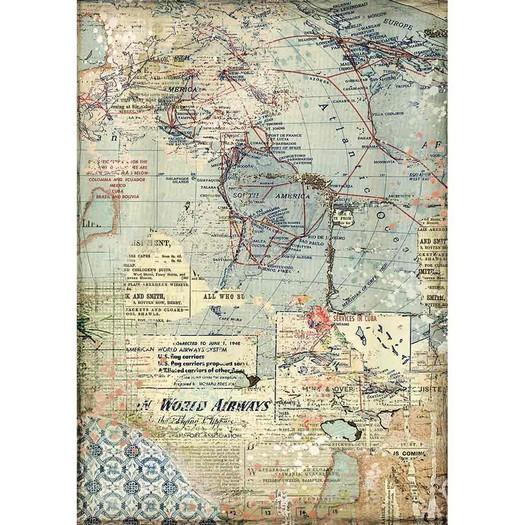 Ριζόχαρτο Stamperia 21x29cm A4, Map