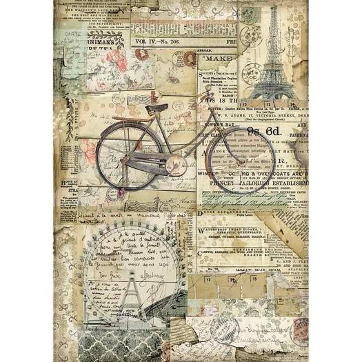 Ριζόχαρτο Stamperia 21x29cm A4, Bicycle