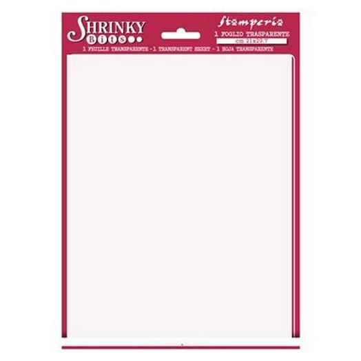 Shrinky Bits -Λευκή ζελατίνη μέγεθος A4 - Stamperia