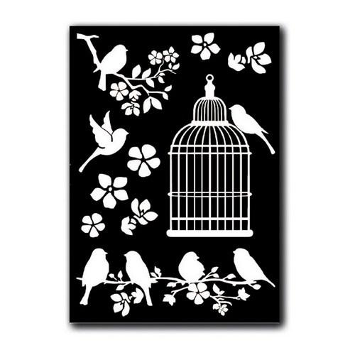 Rub-on Deco Transfer A5 Stamperia - Cage & Birds